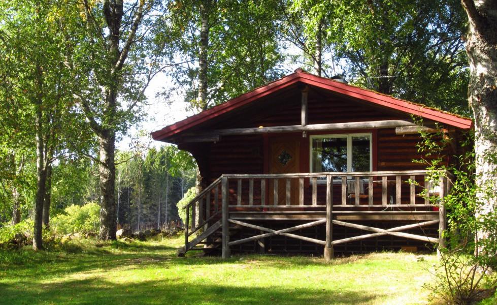 Gammelbyn, stuga med terrass