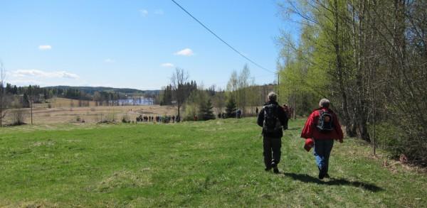Järnleden, invigningsvandring, vy mot Bergsjön
