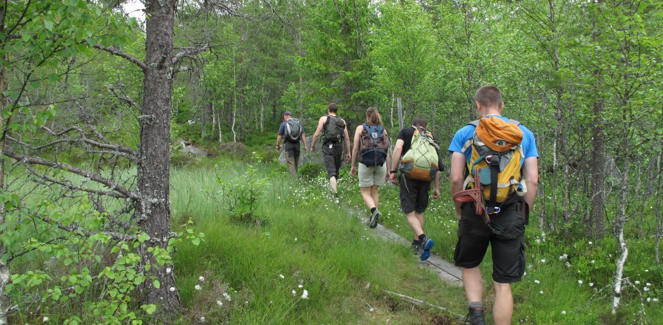 NordVärmlandsleden på väg upp till Granberget