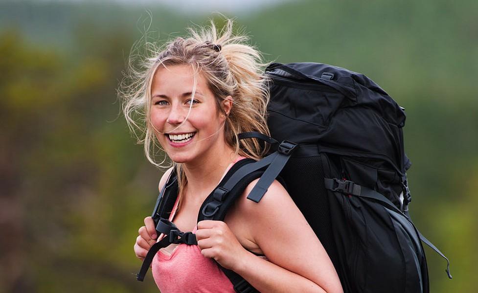 Långbergets Sporthotell, vandrare tjej