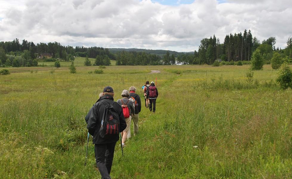 Järnleden, vandring mot Bergsjön