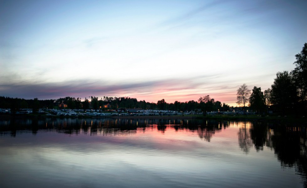 Sunne Swecamp, solnedgång