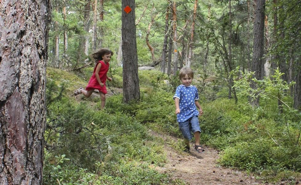 Järnleden, springande barn